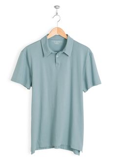 ba0f474f2fd271 Regular Fit • Clean Finish Collar • 2 Button Placket • Short Sleeve • Turn-