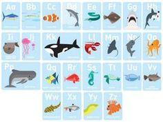 ABC Marine Alphabet Wall Frieze