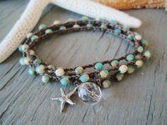 CUSTOMIZED for DIANN crochet 3x wrap bracelet necklace 2x