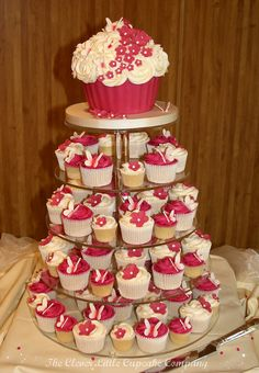 Fuschia and Ivory Wedding Cakes | Flickr - Photo Sharing!