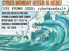#CYBERMONDAY SPECIAL:   Spring Camps Link:  http://sandiegosurfingschool.com/spring-break-surf-camp-2014/  Summer Camps Link:  http://sandiegosurfingschool.com/2014-summer-surf-camp/  www.sandiegosurfschool.com ph: 858-205-7683  #LearnToSurfSD #SurfLessons #SurfCamps #GroupSurfLessons #surfschool #pacificbeach #lajolla #birdrock #Cornado #missionbeach #oceanBeach #LaJollaShores #Tourmaline #surfing #sea #wave #sunset #holiday #summer #board #staycoolsandiego #surfrentals #surfboard #wetsuit