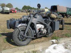 Restored WWII Zündapp KS 750 and sidecar