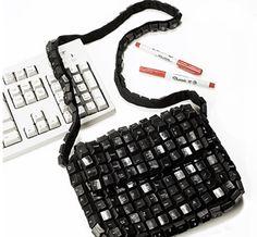 Que tal uma bolsa feita com teclas de computador? - Planeta verde - Blogs - INFO Online
