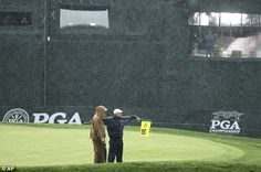 DEREK LAWRENSON AT BALTUSROL: The 98th US PGA Championship is set for a Monday finish after a series of afternoon storms wrecked the third round on Saturday.