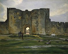 Jean-Frédéric Bazille: Porte de la Reine at Aigues-Mortes 1867, oil on canvas, example of impressionism, The Metropolitan Museum of Art