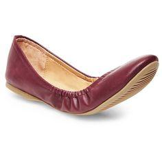 Women's Ona Scrunch Ballet Flat - Burgundy (Red) 9