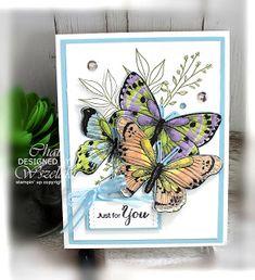 Stampin' Up Healing Hugs & Botanical Butterfly DSP Butterfly Cards, Flower Cards, Butterfly Kit, Butterfly Birthday, Step Cards, Diy Cards, Handmade Cards, Kirigami, Healing Hugs