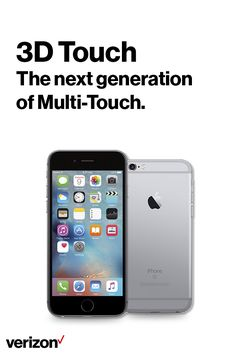 The iPhone 6s now senses how deeply you press the display, opening up new possibilities for how you interact with your content and letting you do all kinds of essential things more quickly and simply. Get yours today with Verizon.