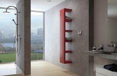Another great radiator / shelf combination. Wall-mounted steel towel warmer QUADRAQUA by IRSAP Wall Radiators, Vertical Radiators, Bathroom Layout, Bathroom Interior Design, Modern Bathroom, Contemporary Radiators, Central Heating Radiators, Electric Radiators, Towel Warmer