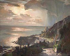 Morning at Lamorna Cove, Cornwall, by Samuel John Lamorna Birch.