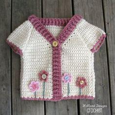 Flower Garden Cardigan Crochet Pattern PDF