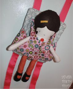 seven thirty three - - - a creative blog: A Baby Doll Carrier #baby carrier diy #diy baby carrier #fashion baby carrier
