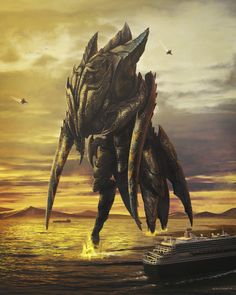 Unused Insect-Like Kaiju Concept Art From Pacific Rim is 2500 Tons of Awesome! Pacific Rim, Sci Fi Movies, Fantasy Illustration, Visual Effects, Sci Fi Art, Concept Art, Lion Sculpture, Creatures, Statue