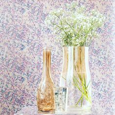 Luxury Wallcoverings and Print Design Gypsophila, Reflection, Print Design, Glass Vase, Pastel, Printed, Studio, Abstract, Floral