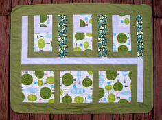 Green Baby Blanket Green & Gray Woodland by TwiggyandOpal on Etsy, $37.00