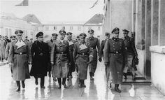 Himmler and Mussert at Dachau Concentration Camp, Germany, 20 Jan 1941.