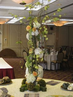 Wedding Flower Centerpieces | Candi's Floral Creations » tall wedding centerpieces