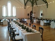 Banquet dinner in the West Hall. Enoch Turner Schoolhouse