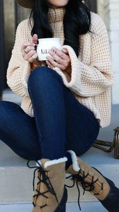 Ribbed Turtleneck Sweater, Mid Rise Skinny Jeans, Sorel Shearling Cuff Waterproof Boots, Chanel Handbag, Felt Hat   how to style a winter sweater   sweater style tips   sweaters for winter   affordable winter sweaters   winter style tips   what to wear for winter   cool weather fashion   fashion for winter   style tips for winter   outfit ideas for winter    Dressed to Kil #sweaterweather #sweatersforwomen #sweaters