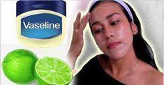 Usa vaselina con limón para convertir el rostro como el de una muñeca de porcelana en tres días