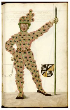 Illustrations from a 16th century manuscript detailing the phenomenon of Nuremberg's Schembart Carnival