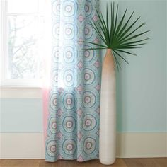 Drapery Panel in Aqua Haute Baby by Carousel Designs.