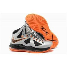 uk availability 907ad 54a2a www.anike4u.com  Cheap Nike Lebron 10 Black White Orange Lbj Shoes,