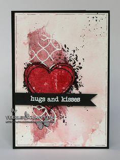 Zig, Woodcraft markers, Visible Image, Valentine, mixed media card