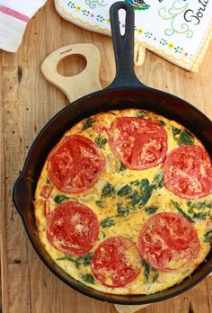 Tomato Spinach Frittata by SeasonWithSpice.com