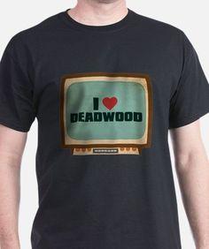 Retro I Heart Deadwood T-Shirt for