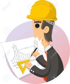 Science Drawing, Science Art, Easy Drawings For Kids, Drawing For Kids, Cartoon Man, Cute Cartoon, Pencil Art Drawings, Cartoon Drawings, Engineer Cartoon