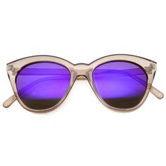 25da01a3a5b38 Cute Women s Translucent Crystal Frame Mirror Lens Sunglasses 9839. Óculos  De Sol ...