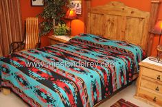 I love this southwestern bedding