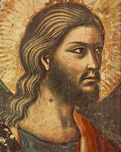 Pietro Cavallini  - Giudizio Universale (part. Apostolo) - affresco - 1295-1300 - Chiesa Santa Cecilia in Trastevere, Roma