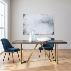 Tower Dining Table - Dark Mineral