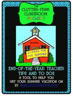 Clutter-Free Classroom has FREE tips & ideas to help teachers improve classroom organization & management.Enjoy teaching with less mess & less stress. School Tool, End Of School Year, Too Cool For School, School Stuff, Kindergarten Classroom, School Classroom, Classroom Ideas, Future Classroom, Teacher Organization