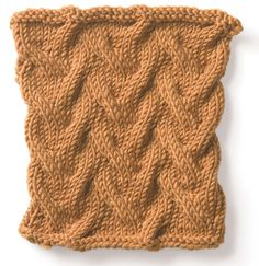 Knitting stitch pattern Sand Cables and many other Vogue stitches from their Stitchionary.