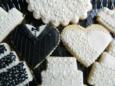 Decorated Sugar Cookies Wedding Themed Set