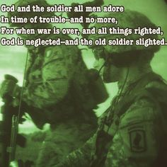 god and the soldier all men adore