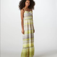 """American Eagle Outfitters dress """"Our most loved corset silhouette, now in summer's favorite maxi length. 100% Polyester Soft chiffon. Bold print. Shaped and padded cups. Sweetheart """" (from AEO website) actual picture will add later American Eagle Outfitters Dresses Maxi"""