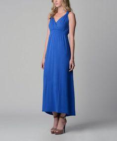 Royal Blue Surplice Maxi Dress - Women  19.99