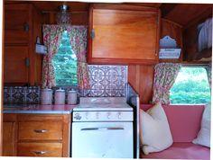 My first vintage trailer kitchen remodel