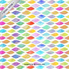 Watercolor waves pattern Free Vector