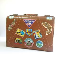Vintage Luggage Travel Stickers Suitcase Hard by DairyFarmAntiques