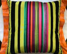 striped silk velvet cushions - Google Search Velvet Cushions, Throw Pillows, Silk, Google Search, Toss Pillows, Cushions, Decorative Pillows, Decor Pillows, Scatter Cushions
