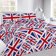 Printed Duvet Covers Union Jack Red Blue Quilt Bedding Sets With Pillowcases & Garden Red Duvet Cover, Best Duvet Covers, Duvet Cover Design, Quilt Cover, Bed Covers, Duvet Cover Sets, Pillow Covers, Blanket Cover, Best Linen Sheets