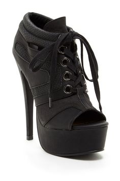 Kiet Lace-Up Platform Bootie by Michael Antonio on @HauteLook