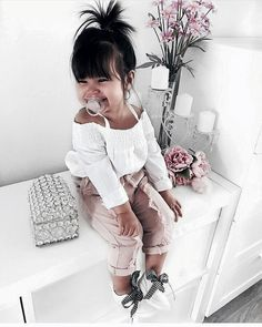 Cute Baby Girl Clothes Outfits Ideas - Cute Baby Clothes - - The most beautiful children's fashion products So Cute Baby, Baby Love, Cute Babies, Baby Kids, Baby Baby, Cute Children, Children Toys, Fashion Kids, Little Girl Fashion