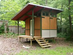 The MorHaus: a prefab building that can be used as a garden shed, office or studio. Also can be used as ready-to-assemble emergency housing.
