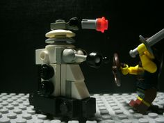 Dalek VS a guy white a sword. by starwars98 on DeviantArt